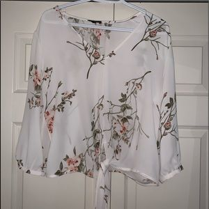 Dynamite Floral Long Sleeve